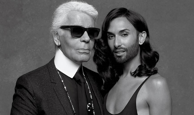 Conchita Wurst Gets the Karl Lagerfeld Treatment