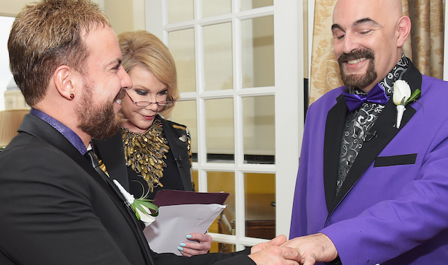 Joan Rivers Officiates as William Ryan & Joseph Aiello Wed For Second Time