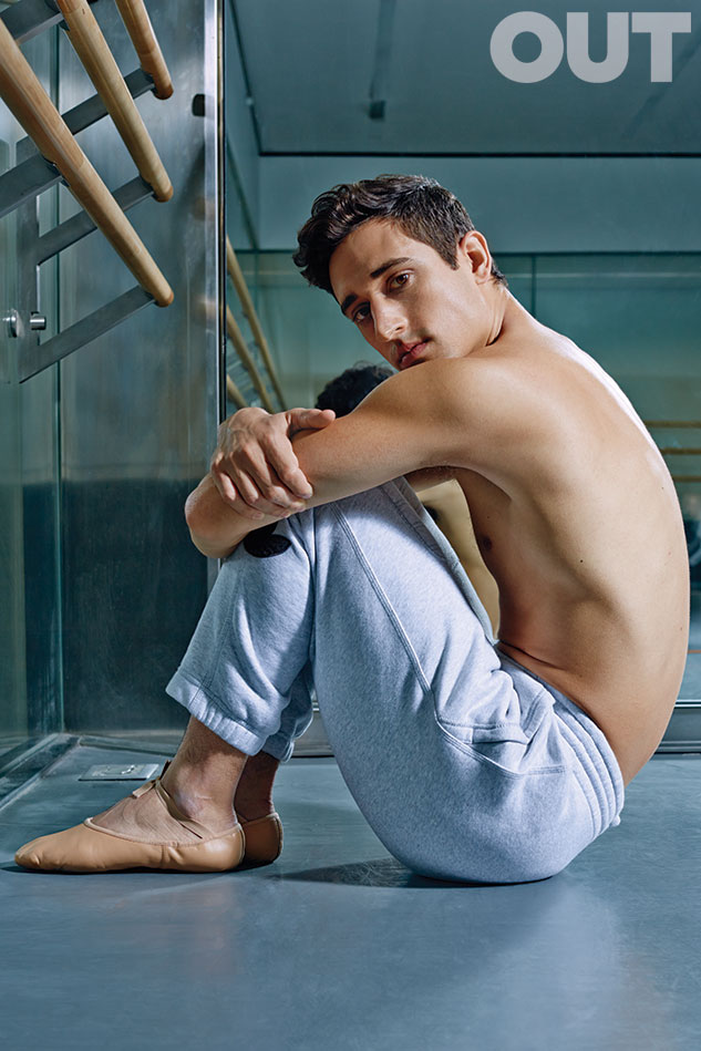 Justin Peck ballet dancer Out magazine