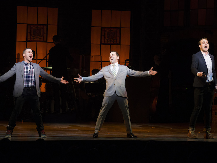 Robin Jesus, Rob McClure, and Micah Stock