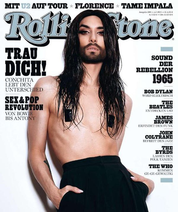 conchita wurst on cover of german rolling stone