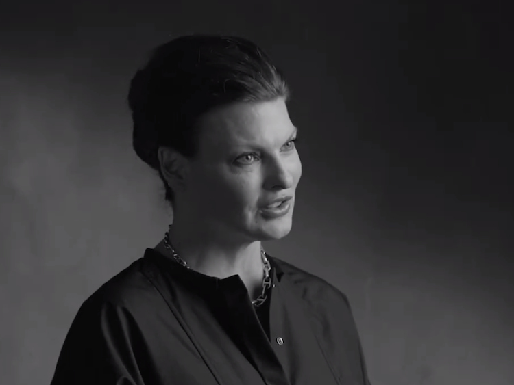 watch linda evangelista says ido to marriage equality. Black Bedroom Furniture Sets. Home Design Ideas