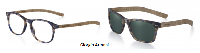 acd87398d8b4e Daily Crush  Wooden Frames by Ray Ban and Giorgio Armani
