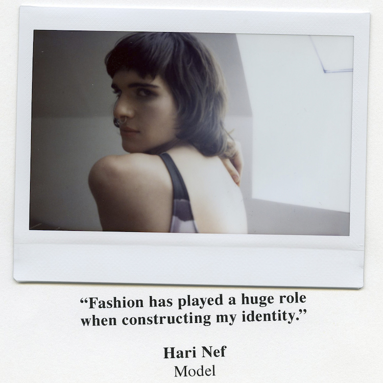 Hari Nef & other stories campaign transgender model transparent
