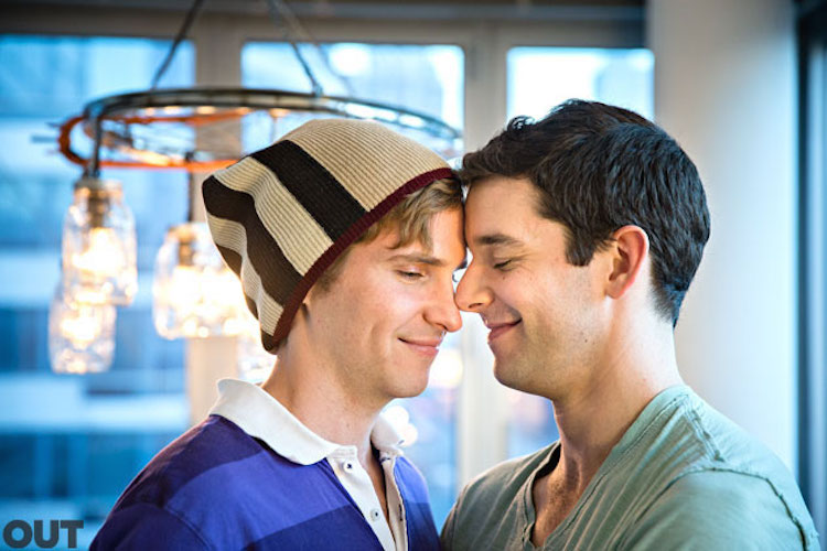 Michael Urie is in a relationship with Ryan Spahn