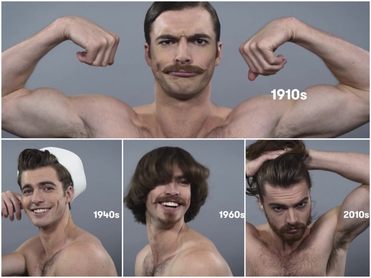 Marvelous Watch 100 Years Of Men39S Hair In 90 Seconds Out Magazine Short Hairstyles Gunalazisus