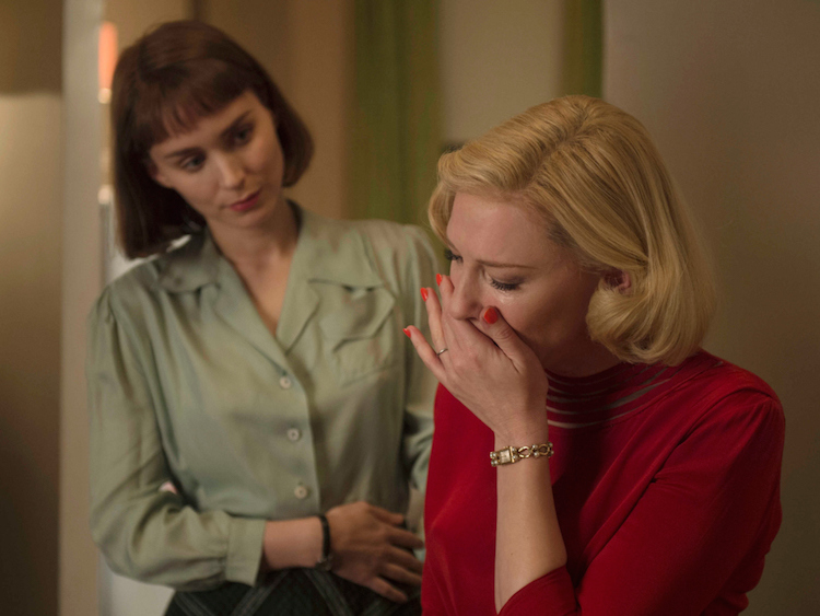 'Carol' lesbian kissing scenes censored on select airlines