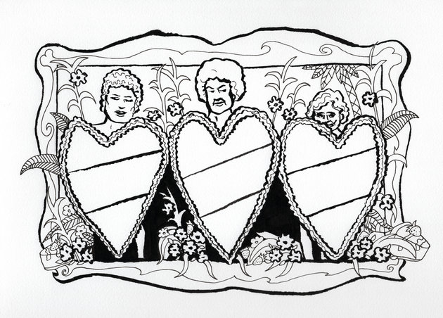 Shade The Pines Ma With The Golden Girls Coloring Book