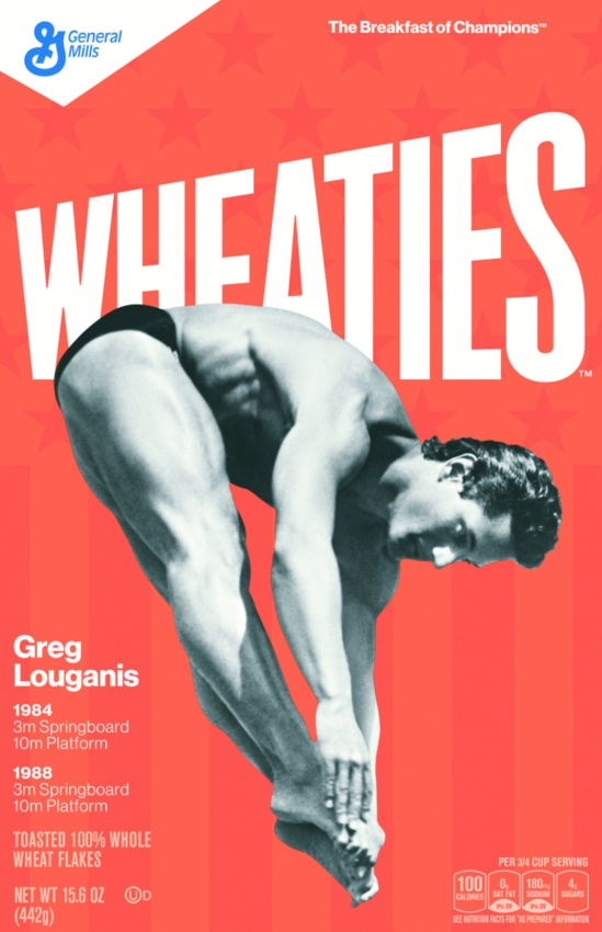 Greg Louganis Wheaties box.