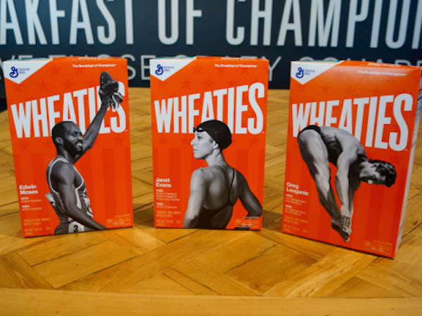 Evans, Louganis, Moses get Wheaties boxes years later