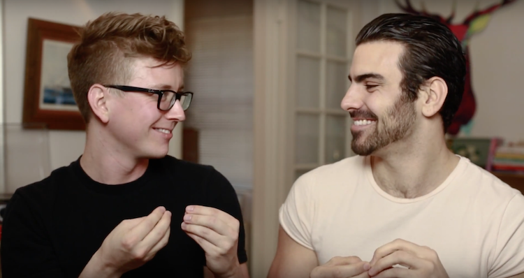91c982b06bc DiMarco Shows Tyler Oakley How To Pick Up Boys Using Sign Language