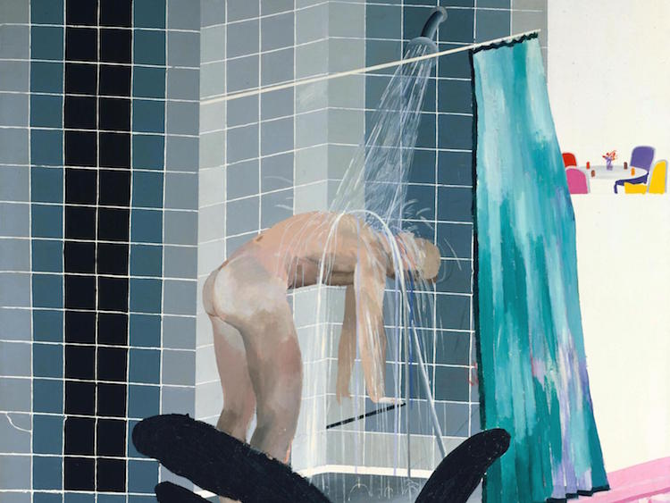 David Hockney, Man in Shower in Beverly Hills 1964