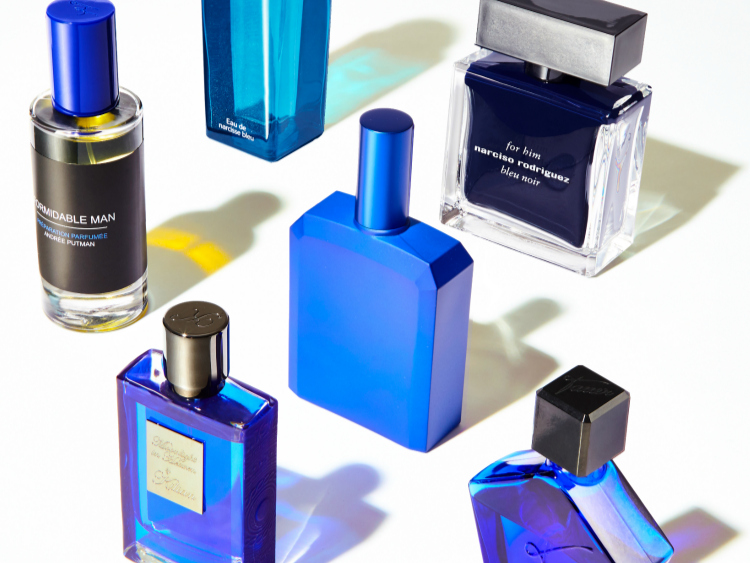 blue fragrance bottles men women unisex perfume
