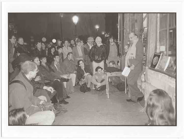 Sco Poet Allen Ginsberg Reading Photo Credit.michelle Campbell