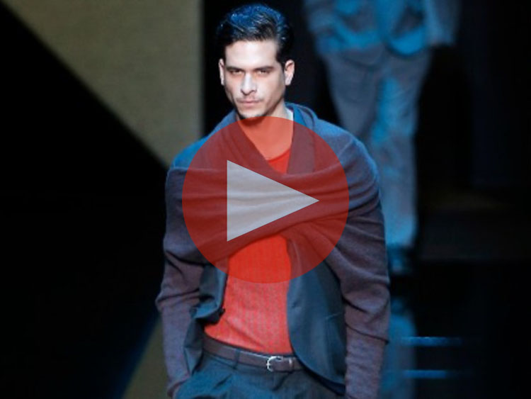Giorgio Armani Unveils New Collection at Milan Fashion Week