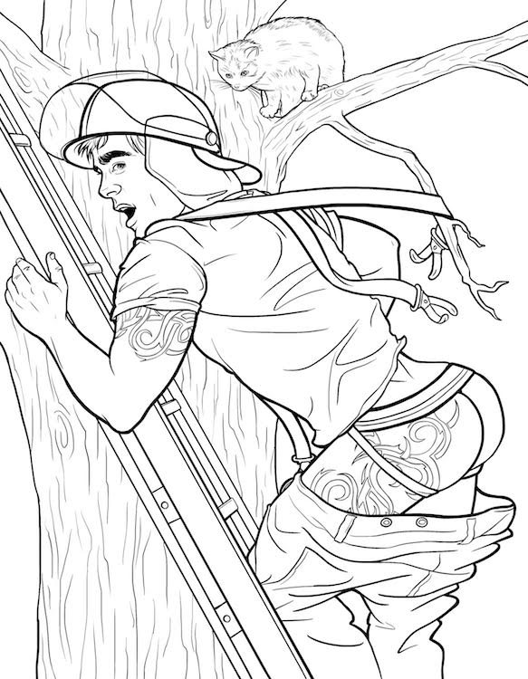 Cheesecake Boys is the Queer Pin Up Coloring Book We Didnt Know