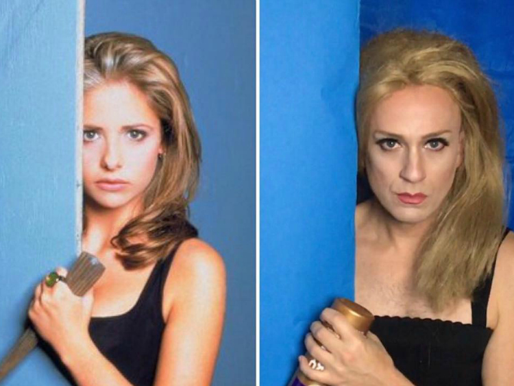 Tom Lenk Slays With Buffy Tribute Look
