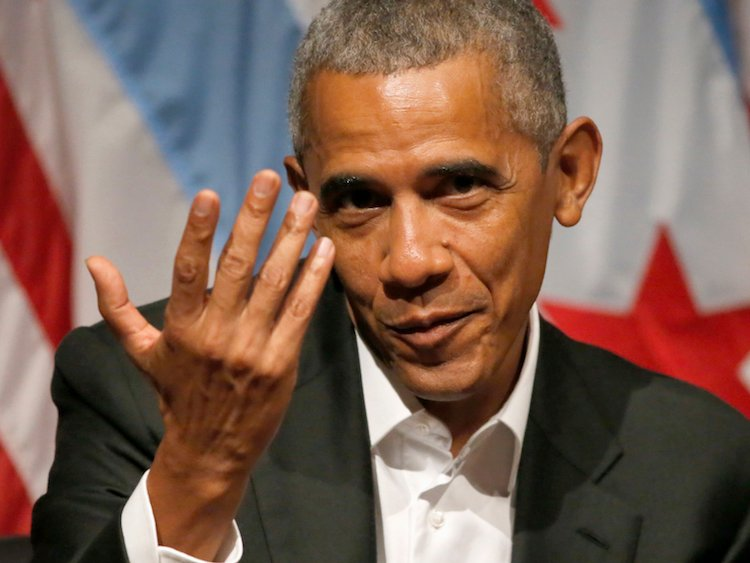 Obama dishes on leadership at 1st event since leaving office