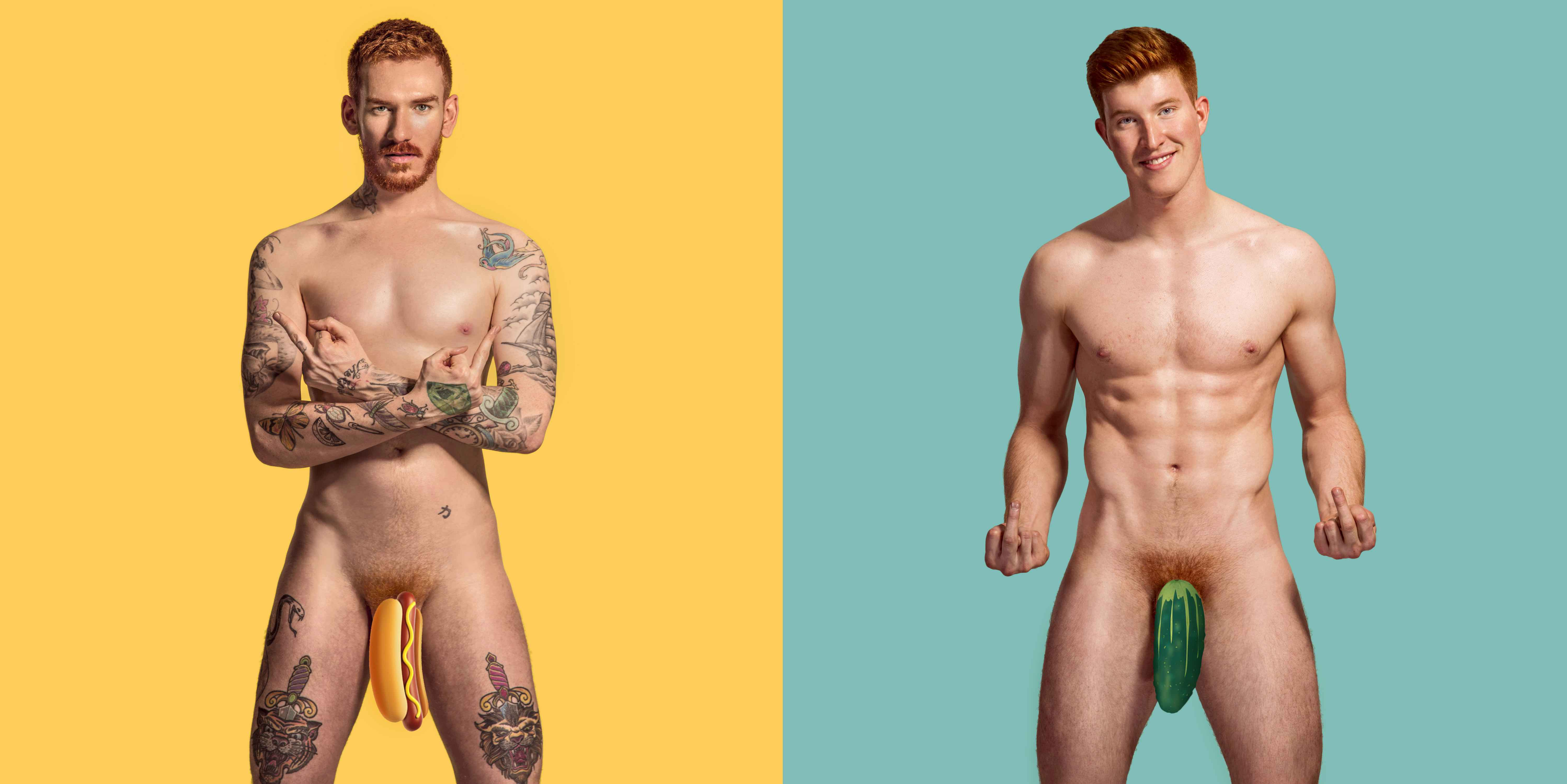 red hot cocks: 12 gingers model naked for testicular cancer awareness