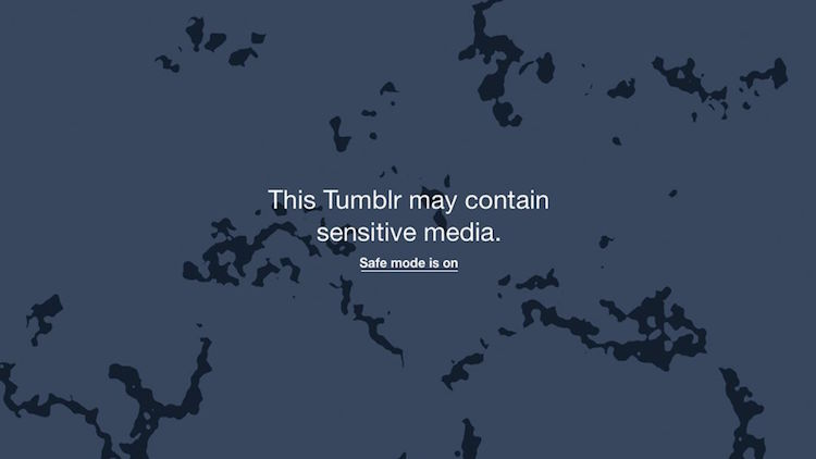 Tumblr safe mode is on