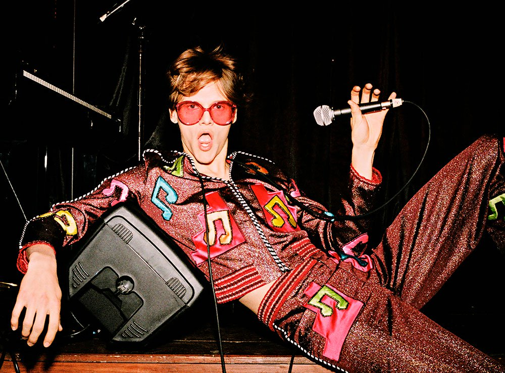 65767d5429dd Gucci's Capsule Collection Was an Electrified Ode to Elton John