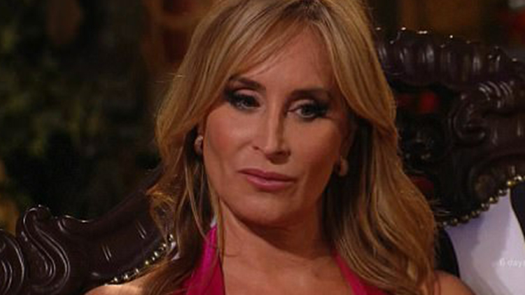Real Housewife Sonja Morgan Has a Wardrobe Malfunction During Cabaret