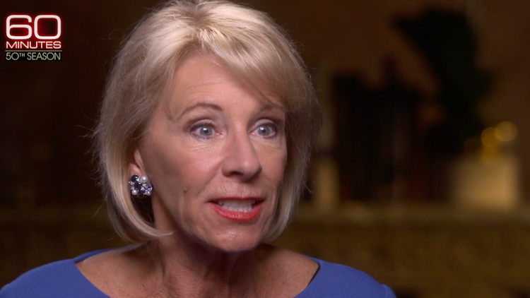 Betsy DeVos can't answer basic questions on sexual assault, school choice in rough 60 Minutes interview