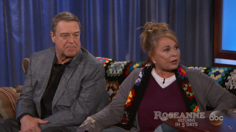 Roseanne Barr Flips Off Kimmel During Heated Late Night Interview
