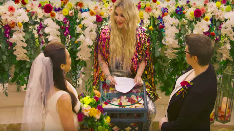 In New Video, Kesha Officiates a Real-Life Lesbian Wedding