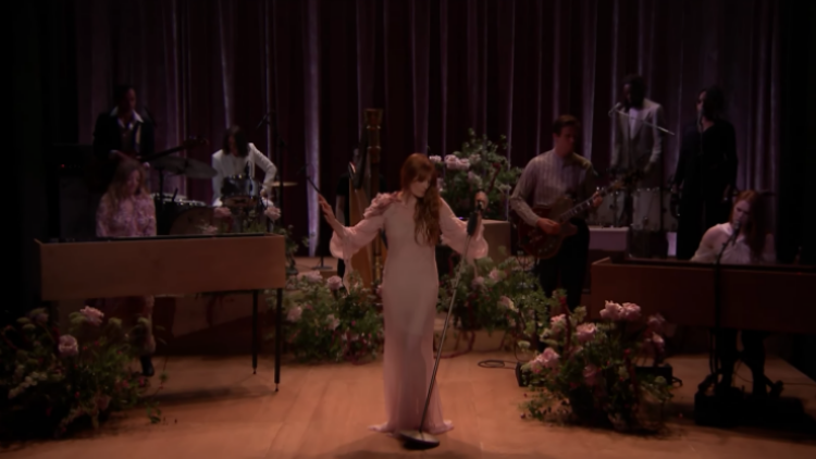 Watch Florence + The Machine Perform 'Hunger' On 'The Tonight Show'