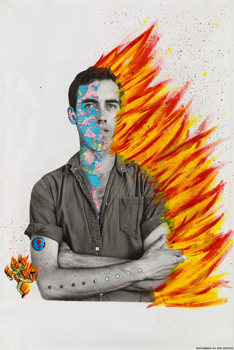 Portrait Self Portrait Of David Wojnarowicz750x