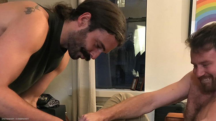 This Photo of Jonathan Van Ness Helping His Boyfriend Put on Heels Is Beautiful & Meaningful