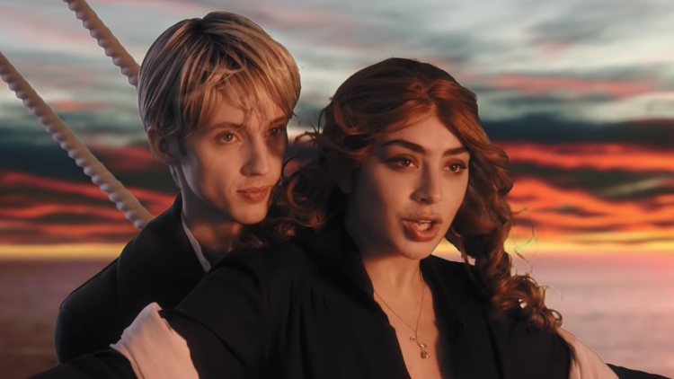 Charli XCX & Troye Sivan Go Full 'Titanic' in '1999' Music Video