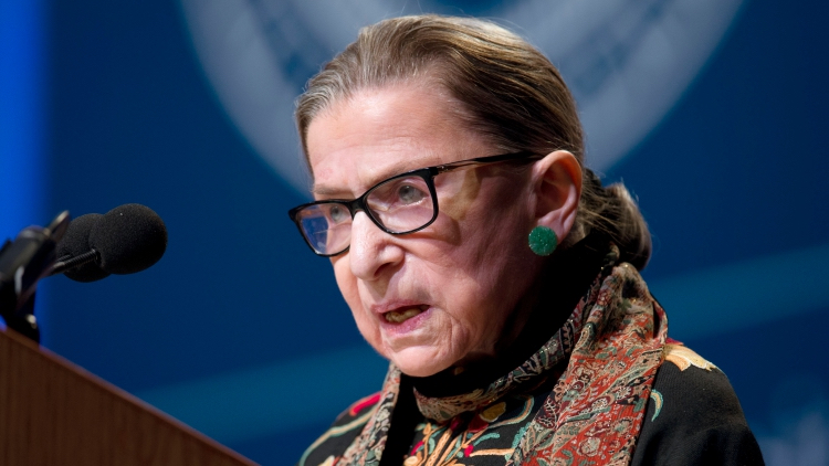 Ruth Bader Ginsburg Hospitalized After a Fall at Her Office