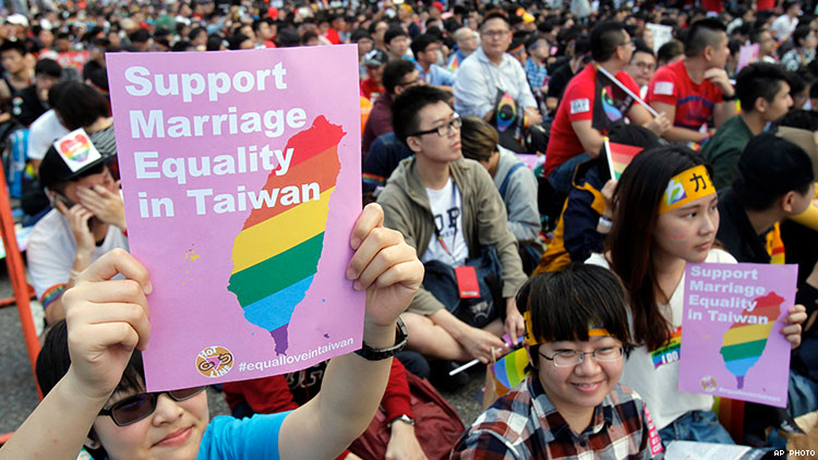 Taiwan same sex equality