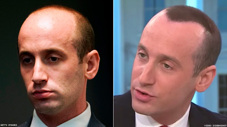 Stephen Miller's Spray-Painted Hair Is the Latest of Trump's