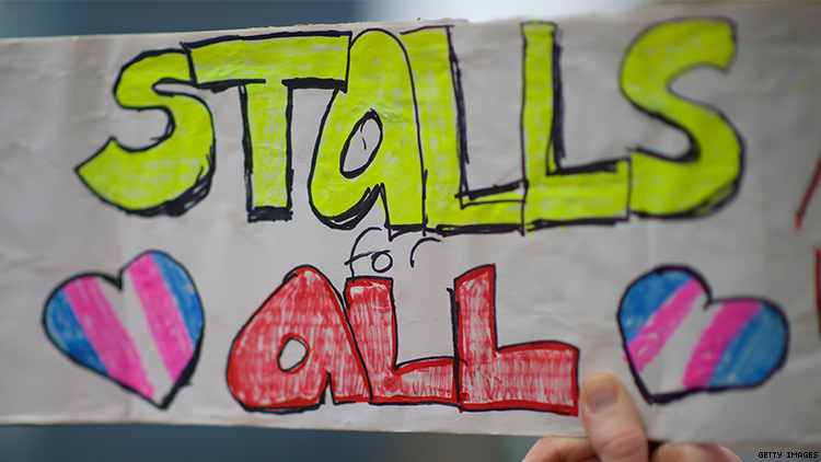 Stalls for All protest sign