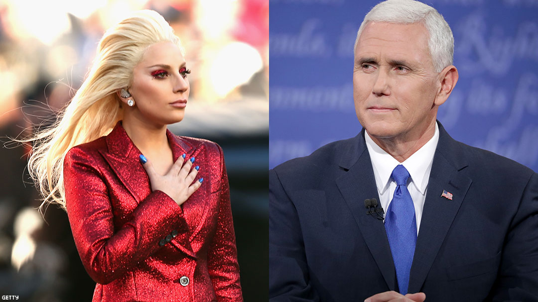 Lady Gaga Calls Mike Pence the Worst Representation of a Christian