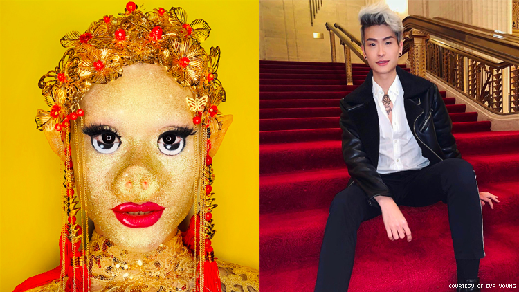 This Drag Queen Turned Herself into a Glitter Pig for Chinese New Year