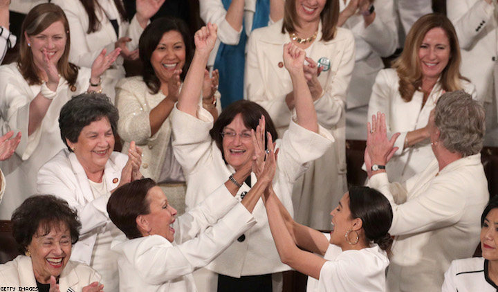 Democratic Women Wore White to Trump's State of the Union