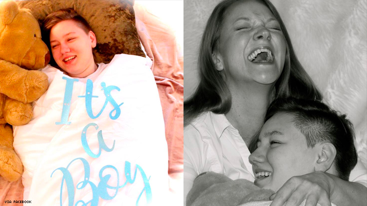 Mom Stages Hilarious Gender Reveal Shoot for Trans Son