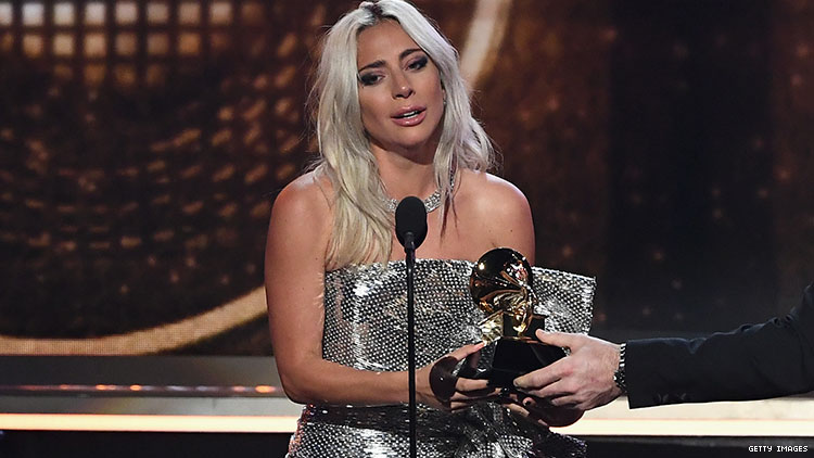 Gaga Grammys First Award