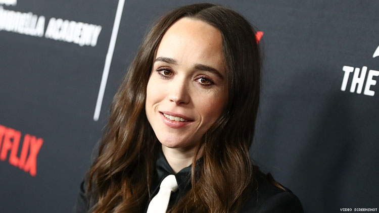 "Ellen Page says media must stop framing LGBTQ+ rights as ""a debate."""