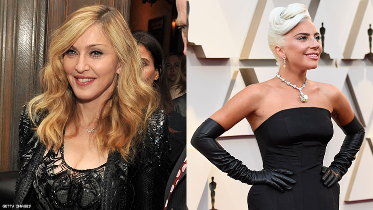 Lady Gaga and Madonna hung out after the Oscars.