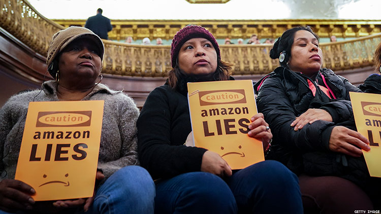 """Amazon pulled out of Queens HQ2, but queer activists say New York is """"in a housing crisis."""""""