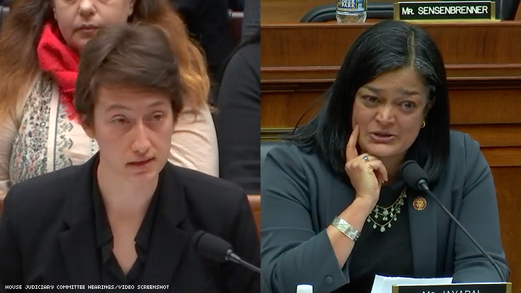 Julia Beck and Rep. Jayapal