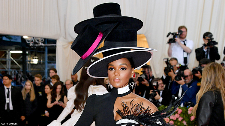 Janelle Monae's Got Her Eye on You In Her Met Gala Look