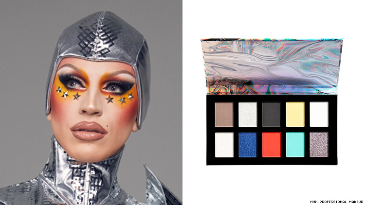 """Exclusive: Aquaria Spills the Tea on Her NYX Professional Makeup Palette The """"punk noir"""" eyeshadow palette will launch May 30."""