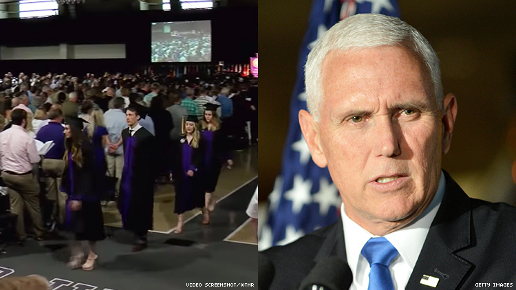 Students and Faculty Walked Out on Mike Pence's Graduation Speech