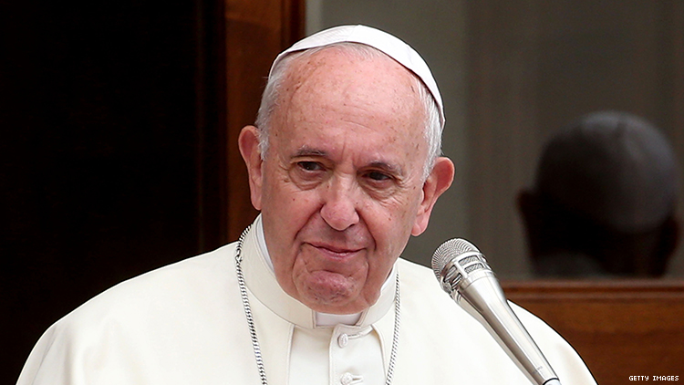 The Vatican releases document saying transgender people aren't real and same-sex unions are bad.